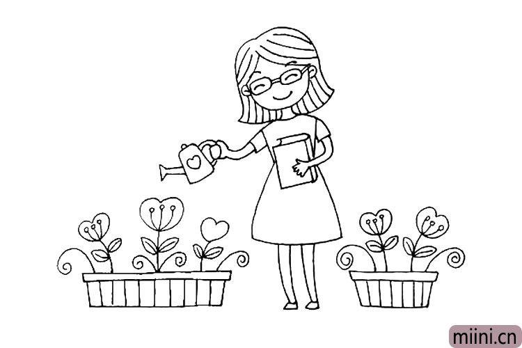 7.在画另一盆花
