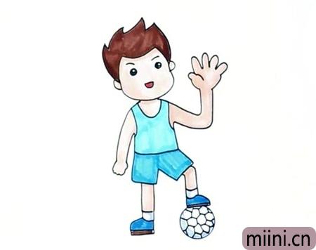 学校里面的体育老师简笔画步骤教程