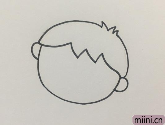 简单的小孩怎么画