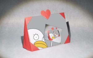 母亲节,有心的手工礼物,爱心相框折纸教程
