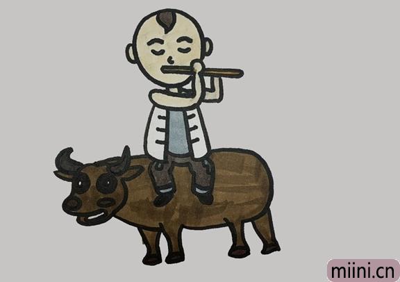 王二小放牛怎么画