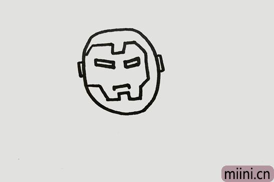 钢铁侠的简单又帅的画