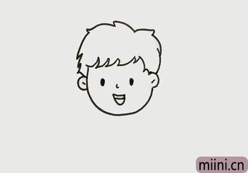 小男孩怎么画