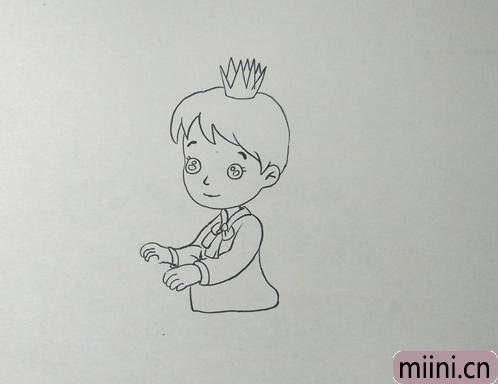 英俊的白马王子简笔画