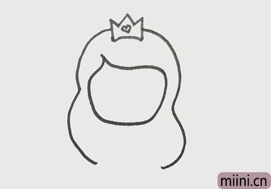 画一个简单漂亮的公主