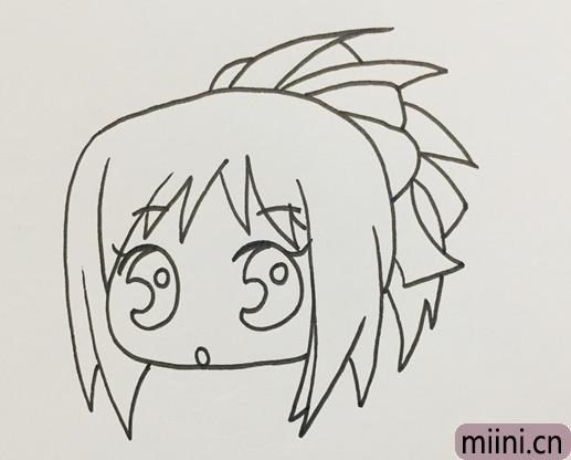 漫画中的小女孩