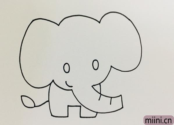 大象简笔画画法步骤