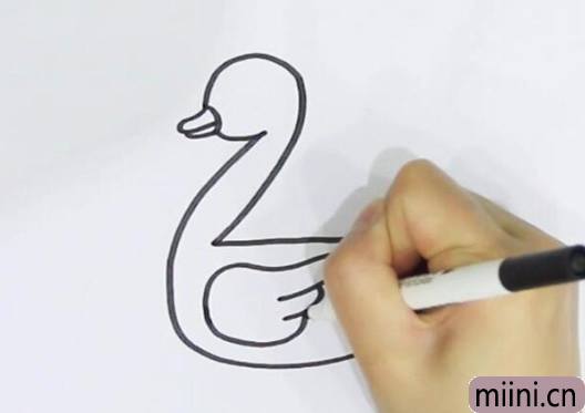 数字2画鸭子