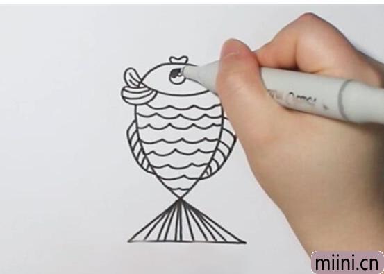 数字2画小鱼