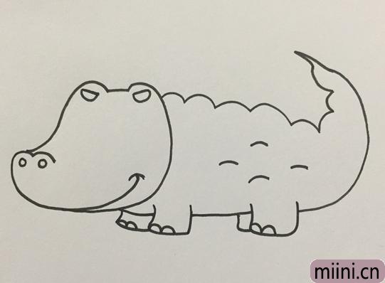 鳄鱼怎么画才可怕