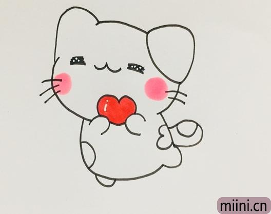 可爱的小猫简笔画步骤教程