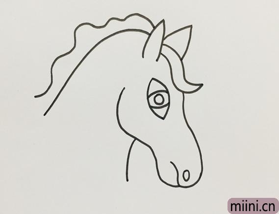 马头怎么画