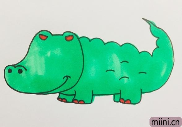 邪恶的鳄鱼简笔画步骤教程