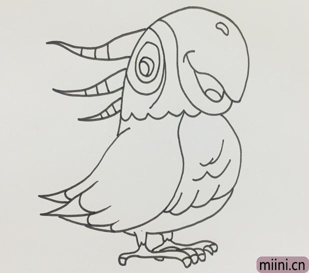鹦鹉的画法步骤