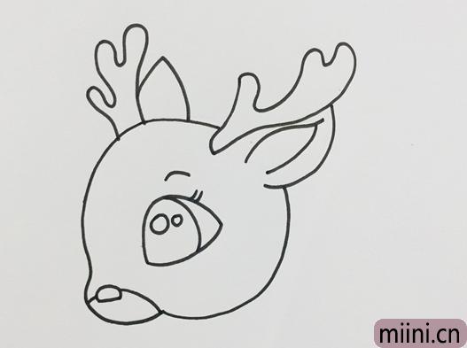 梅花鹿的头怎么画