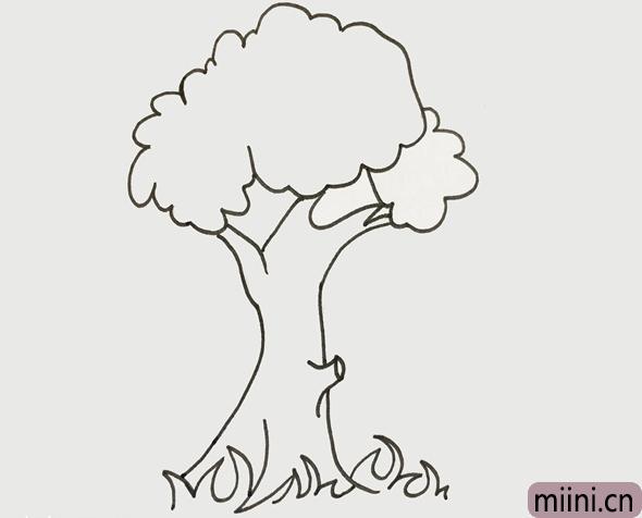大树怎么画简单又好看