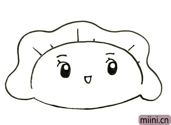 爱饺子简笔画教程,一个饺子简笔画