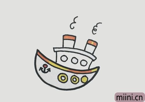 游轮怎么画