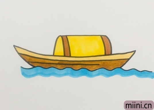 木船简笔画步骤教程