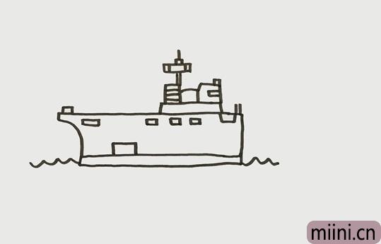 军舰怎么画