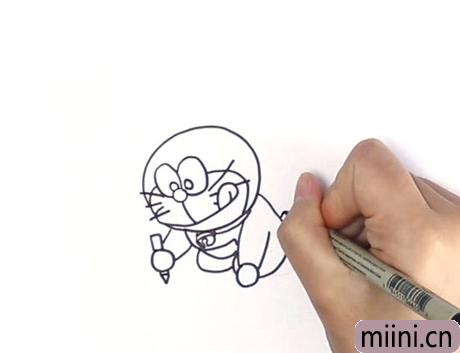 哆啦a梦怎么画 可爱