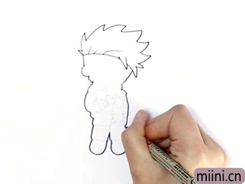 卡卡西简单画法