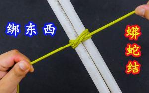 这就是传说中的蟒蛇结,捆绑物体越拉越紧,生活中太实用了