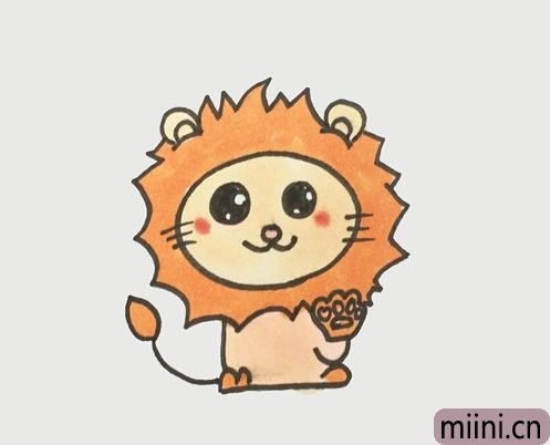 狮子座简笔画步骤教程