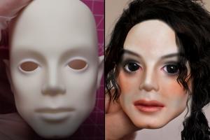 【BJD化妆】给小光头画一个迈克尔杰克逊仿妆