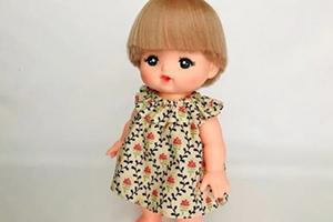 丽佳小娃娃碎花连衣裙的制作步骤教程