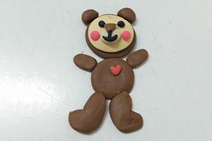 彩虹小熊宝宝的粘土制作步骤教程