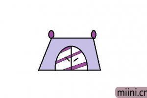 露营必备的帐篷简笔画步骤教程