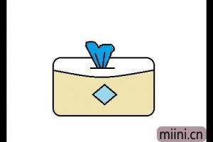 纸巾盒的简笔画步骤教程