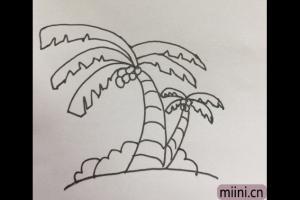 椰子树的简笔画步骤教程