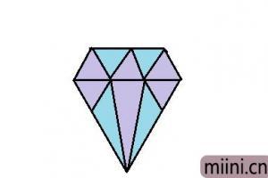 漂亮的钻石简笔画步骤教程