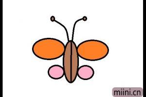 好看的蝴蝶简笔画步骤教程