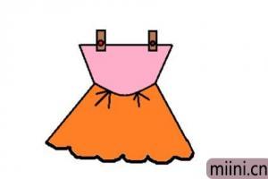 漂亮的裙子的简笔画步骤教程