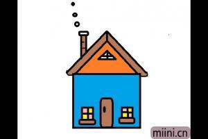 简单的小房子简笔画步骤教程