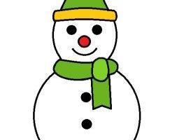 非常可爱的小雪人简笔画步骤教程