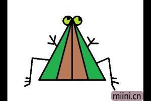 三角形的青蛙简笔画步骤教程