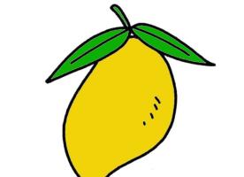 好吃的大芒果简笔画步骤教程