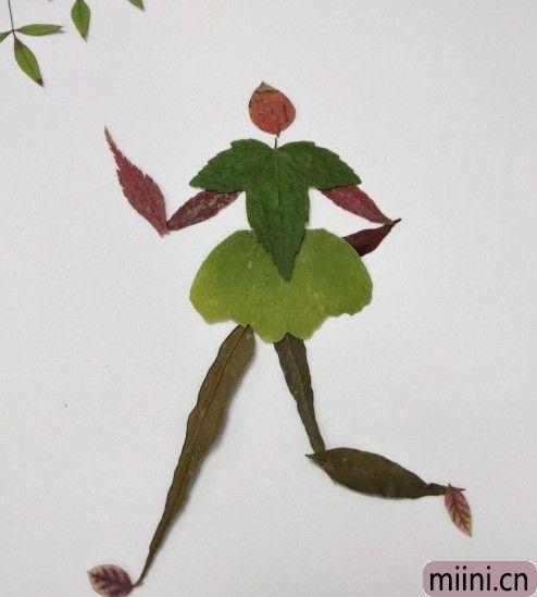 树叶贴画10