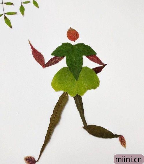 树叶贴画11