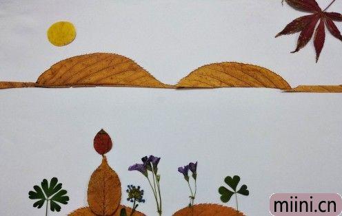 树叶风景画11