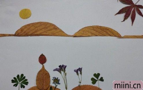 树叶风景画01