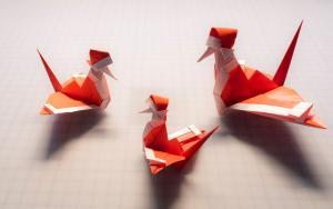 圣诞老人入境要隔离,千纸鹤折纸步骤教程如何化身圣诞鹤完成使命?