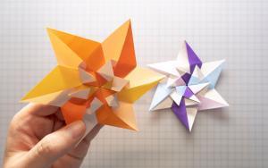 组合六芒星书签折纸步骤教程,也太简单了吧