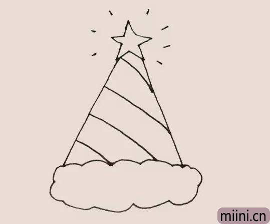 圣诞帽简笔画
