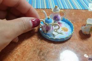 软陶微型器皿仿古茶具套装的详细制作步骤图教程