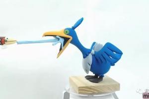 粘土卡通动物摆件鱼鸟之战的详细制作步骤教程